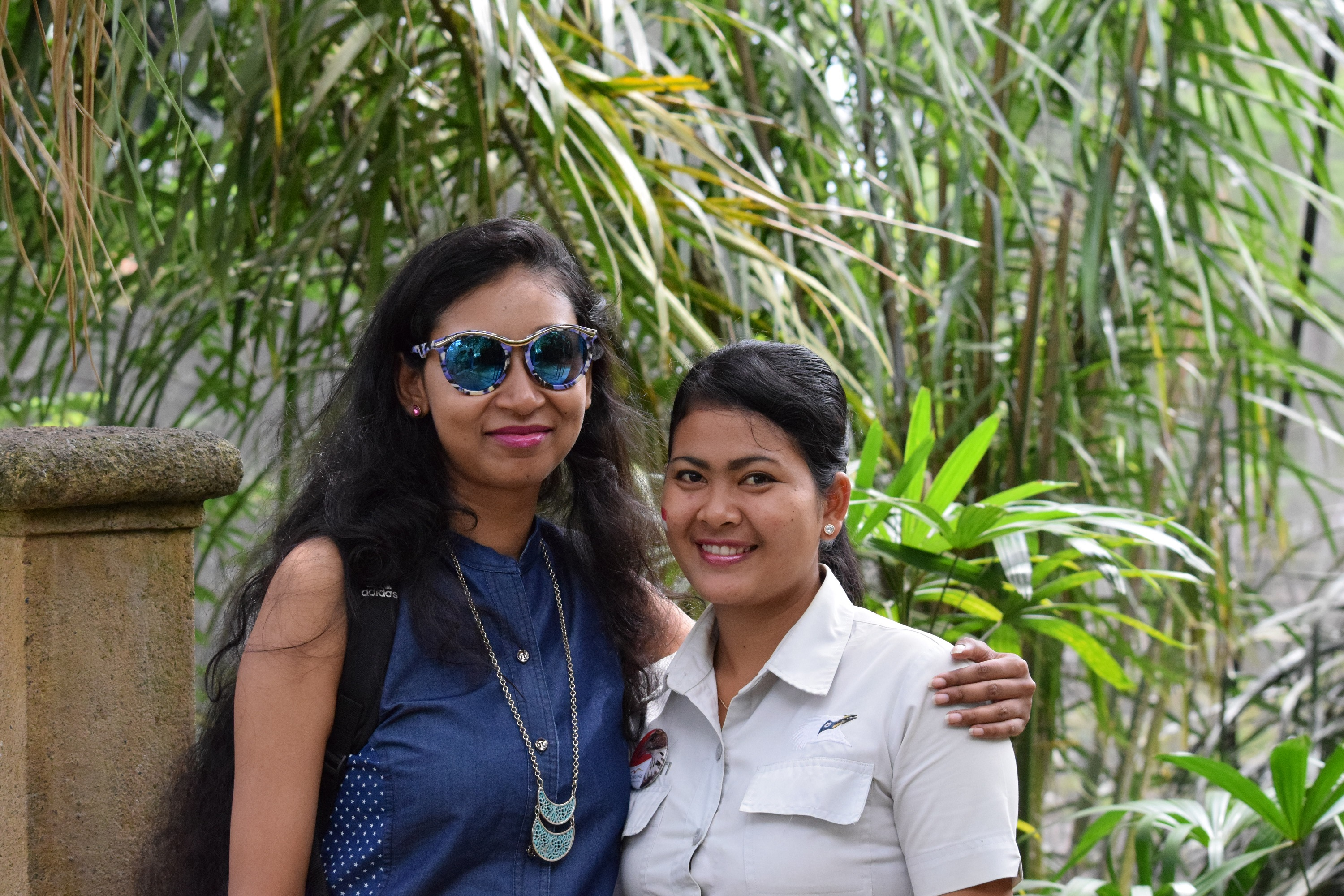 With Shanti, one of the park staff members