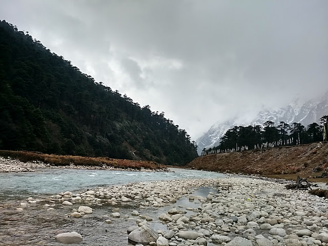 Picturesque Yumthang Valley and river Teesta