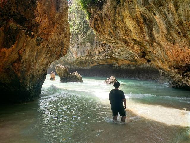 Through the limestone cavity