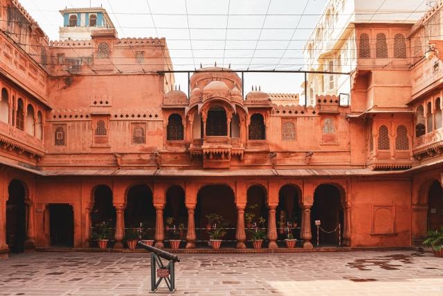 Entrance space in Junagarh Fort
