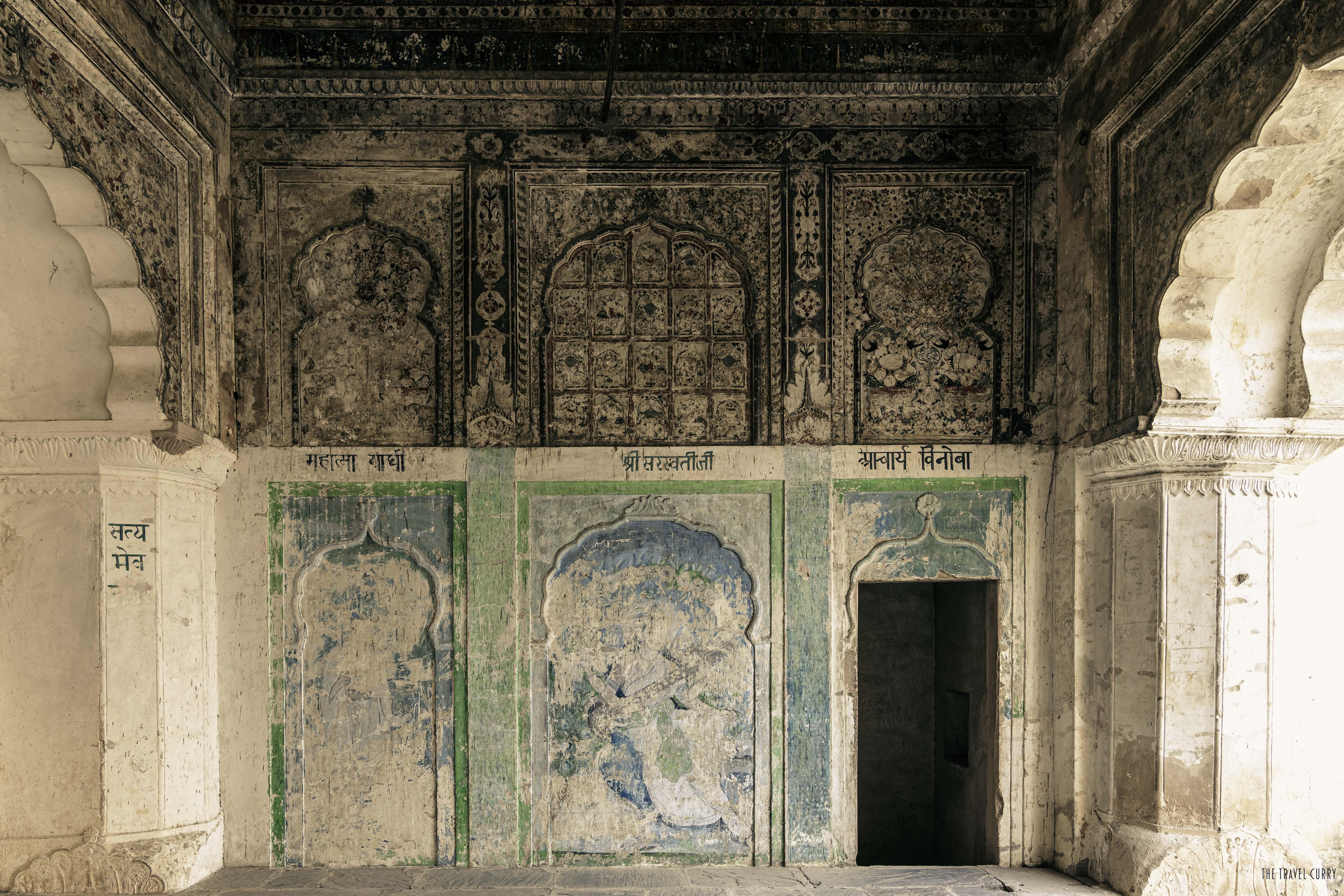 Mural paintings inside Raja Mahal