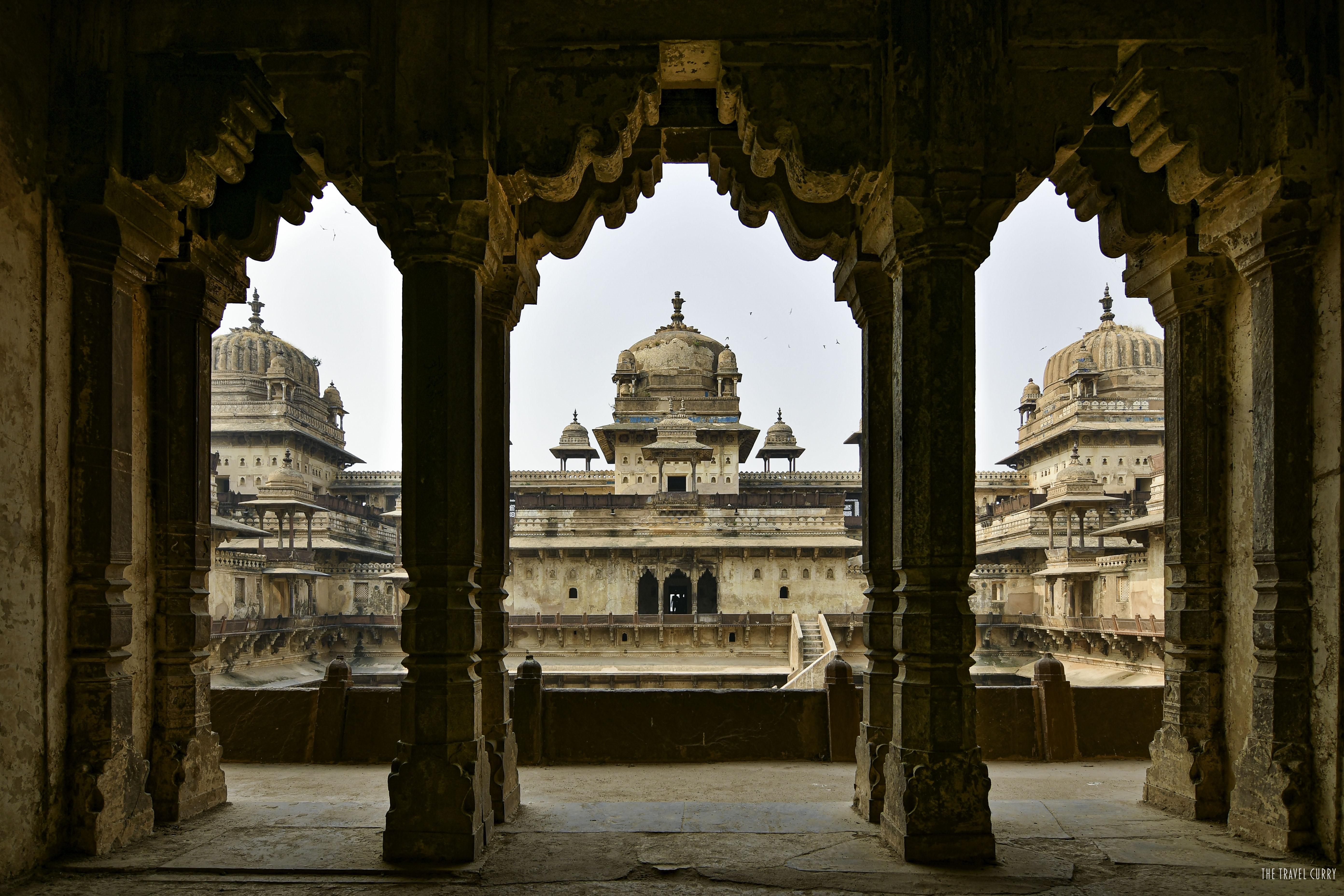 Jahangir Mahal Balcony at Orchha Fort