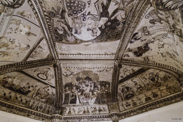 Mural at Laxmi Narayan Temple