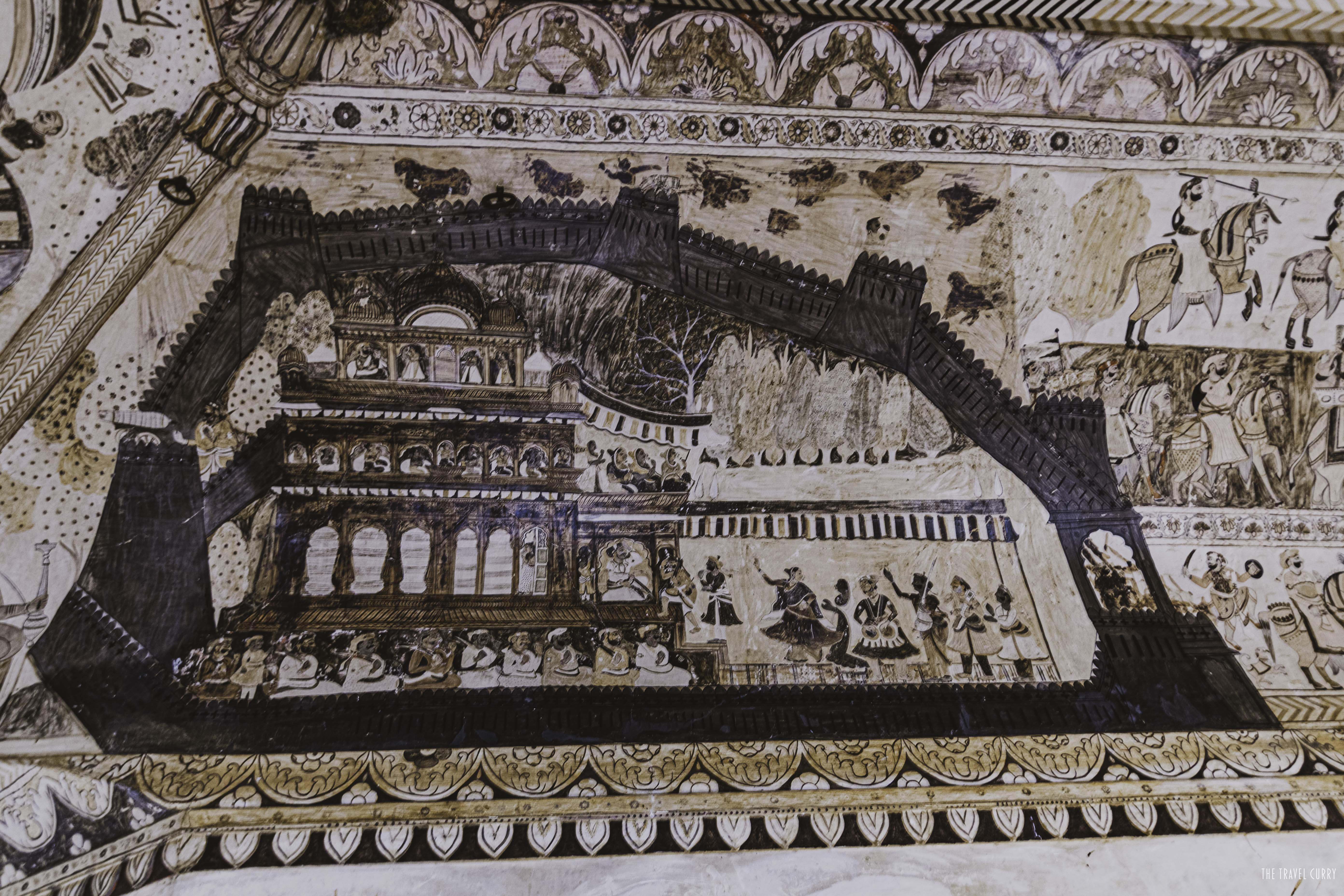 Lakshmi Narayan Temple- Wall Paintings