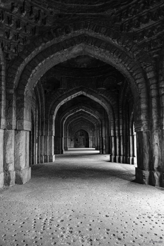 Interior Jamali Kamali Mosque- Mehrauli Archaeological Park