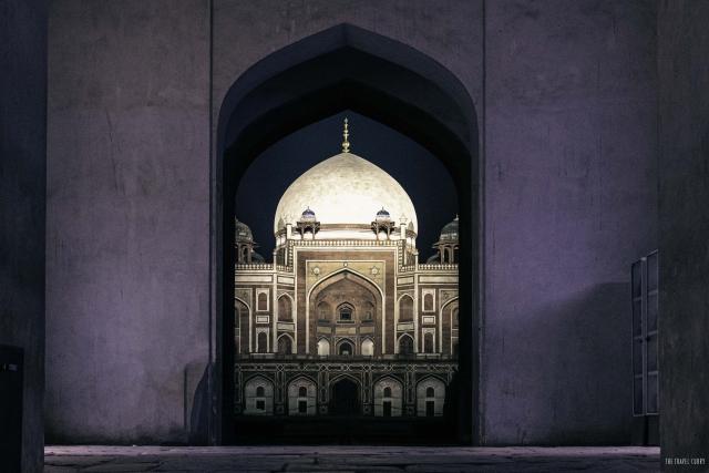 Humayun Tomb at Night