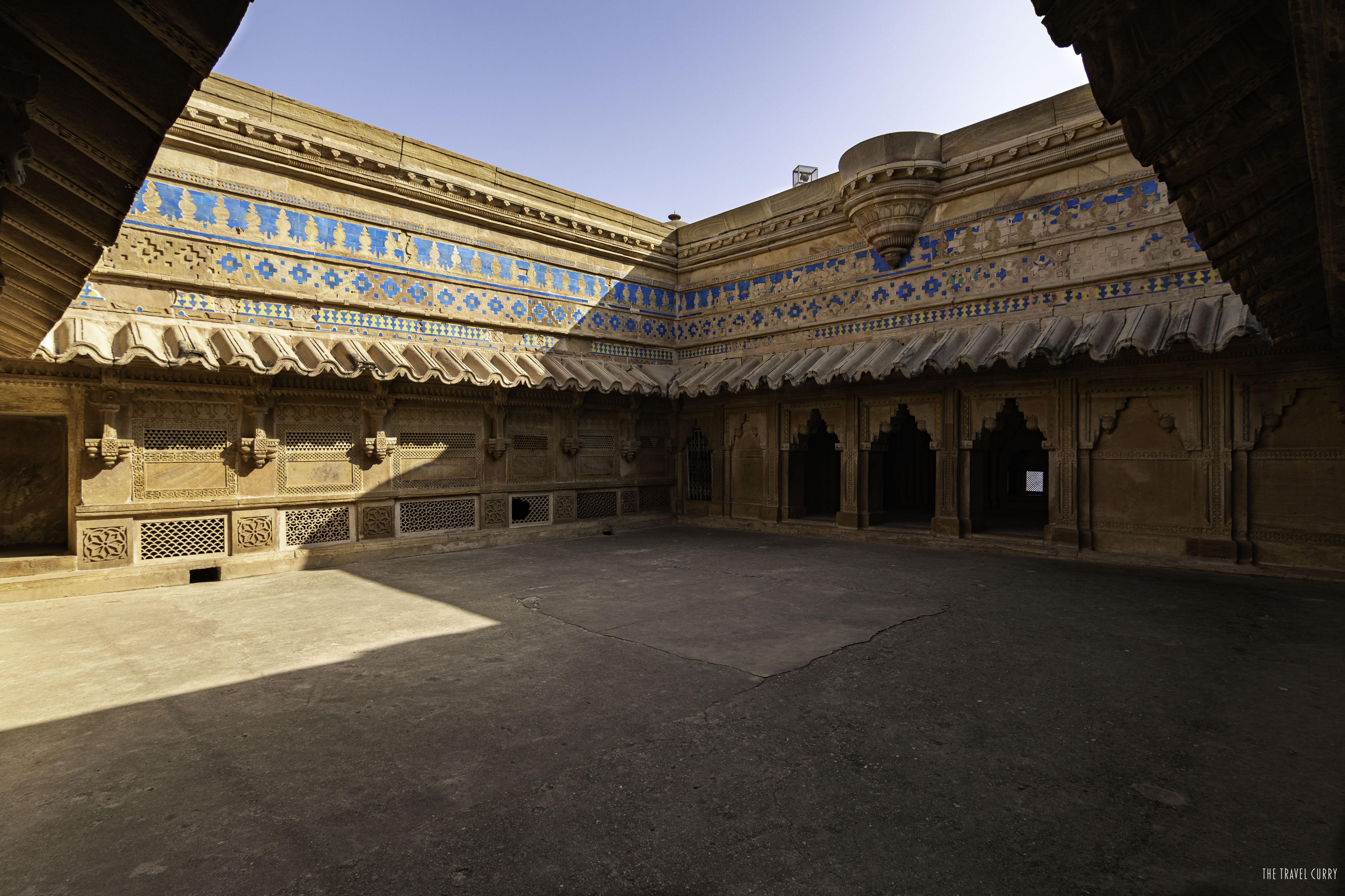 Blue stone work at Man Singh Palace