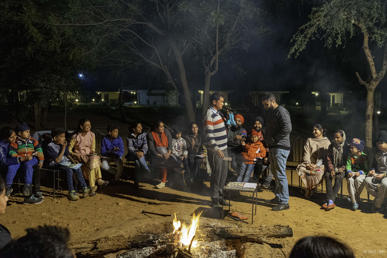 Evening of bonfire