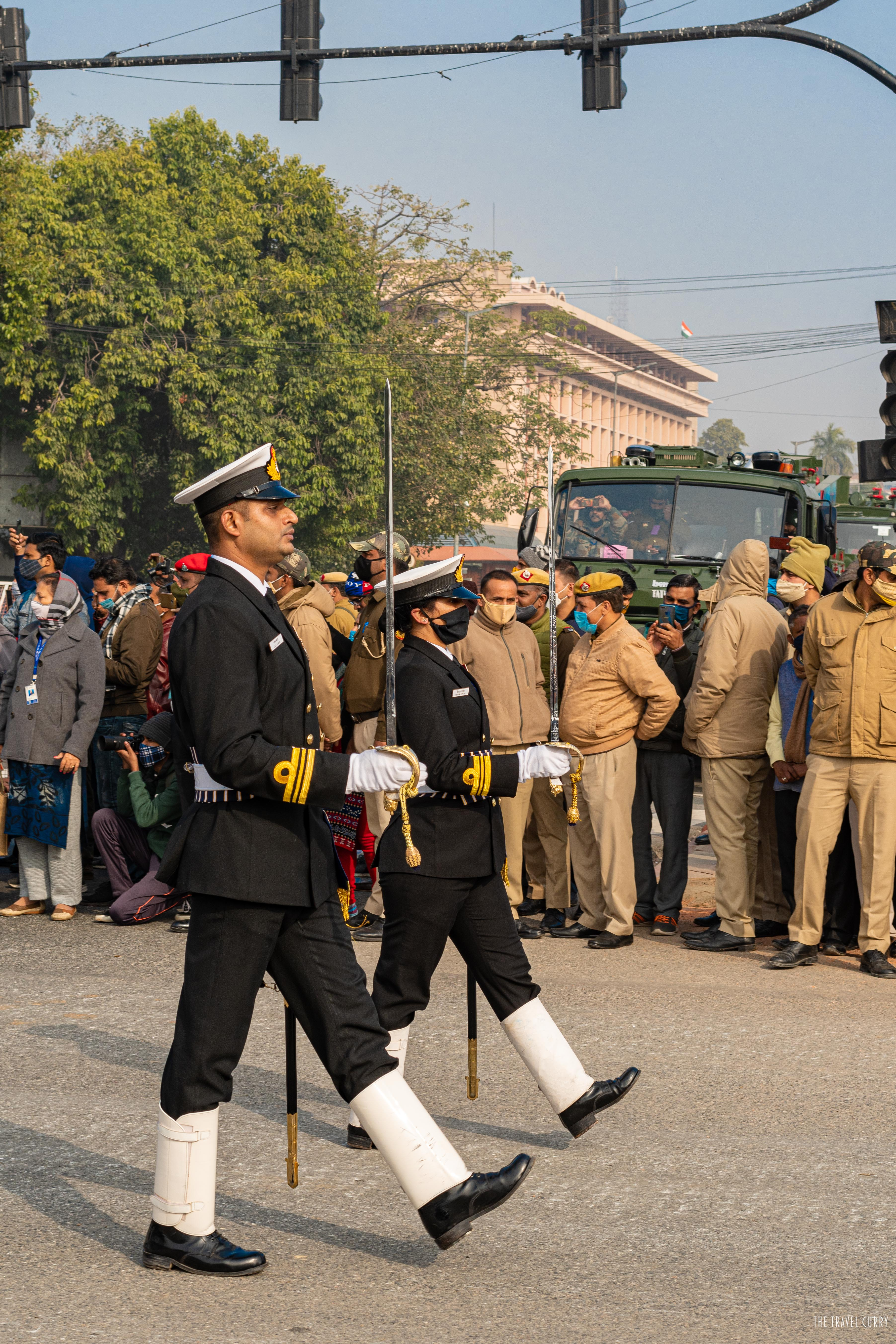 Officers Leading Indian Navy Contingent