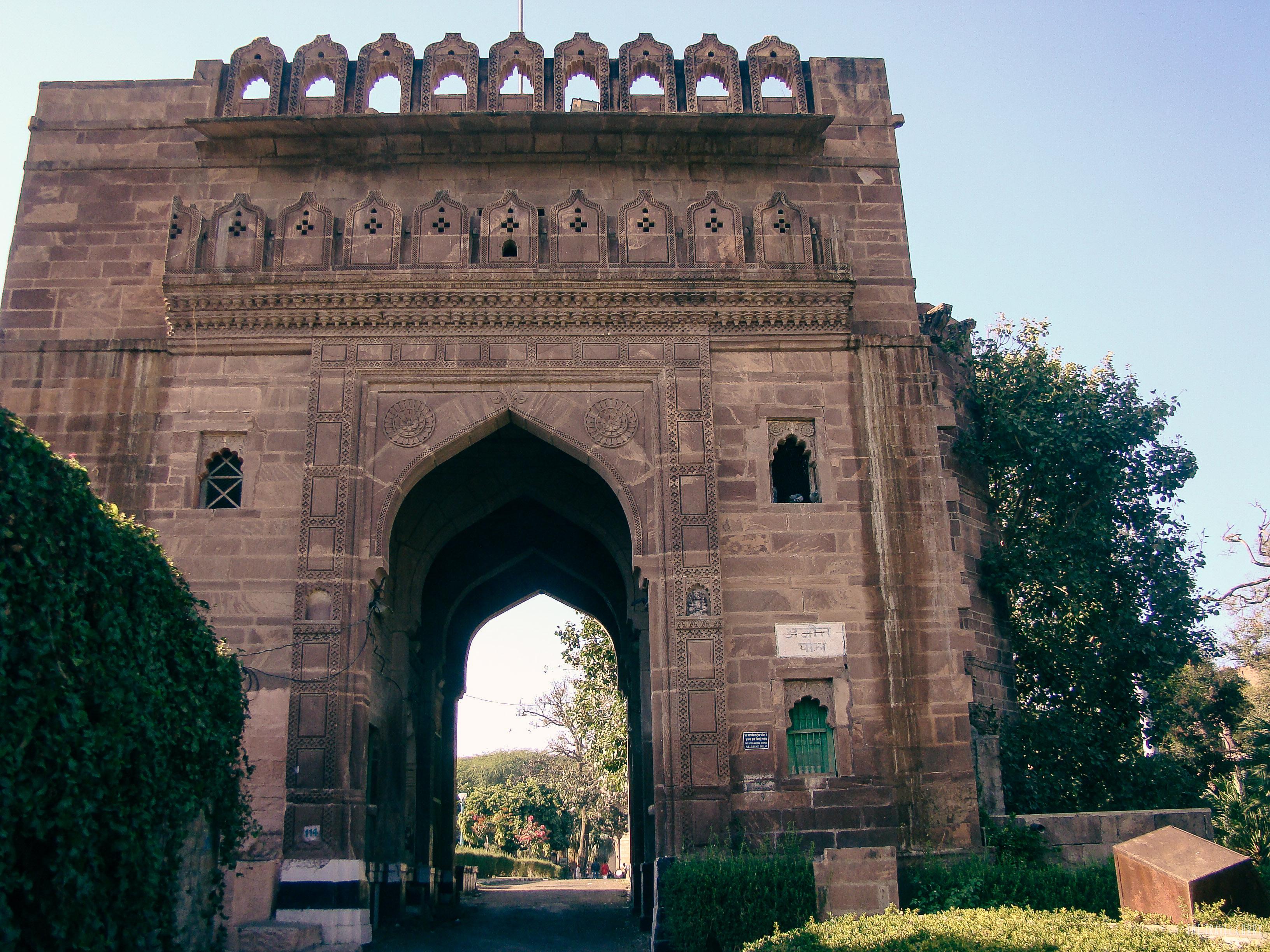Mandore Garden's entrance way