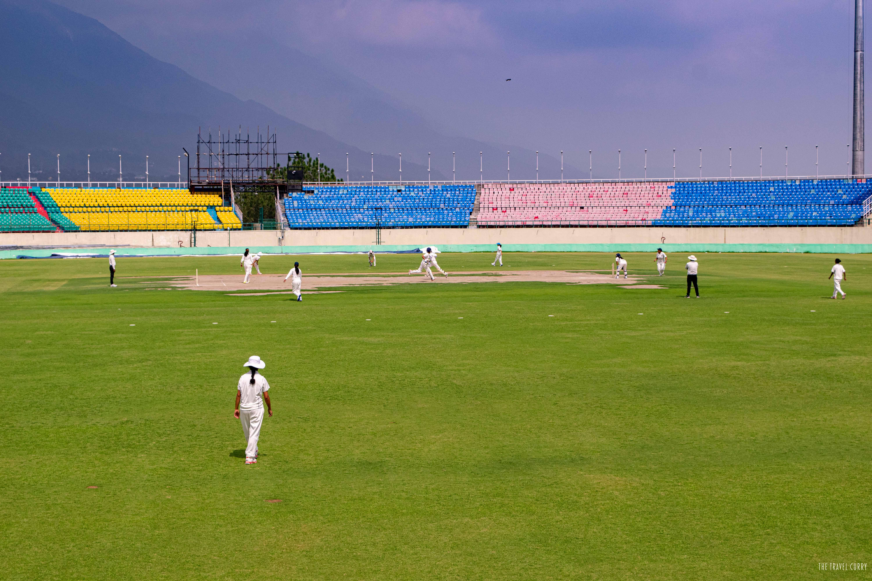Girls Cricket Team in action