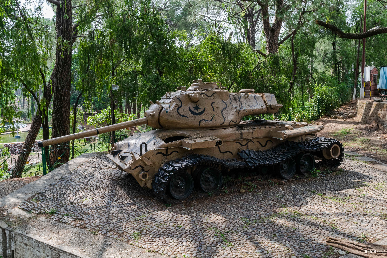 Display at the war memorial
