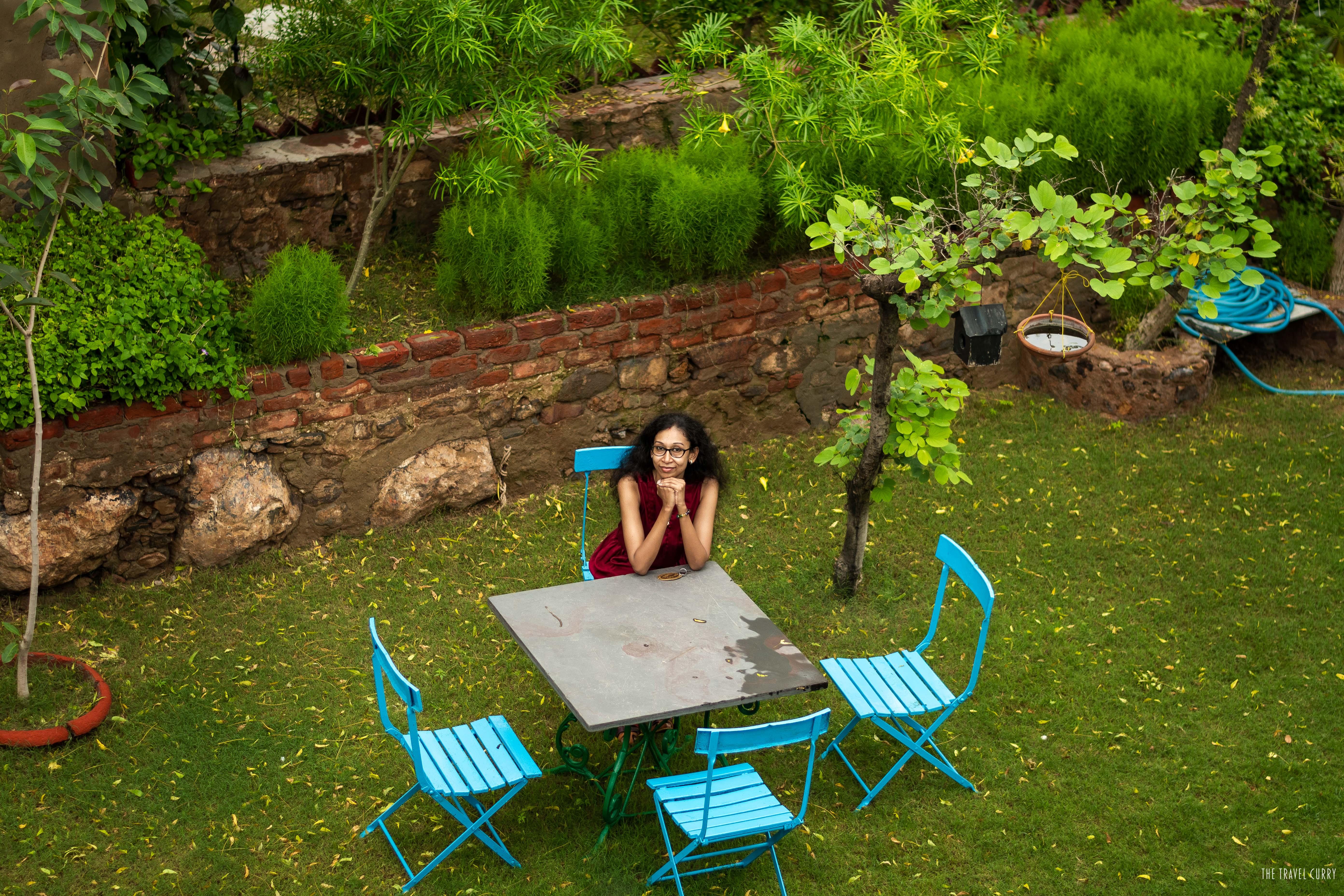 At the pretty garden in Hill Fort Kesroli